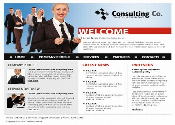 consulting business website template download business consulting