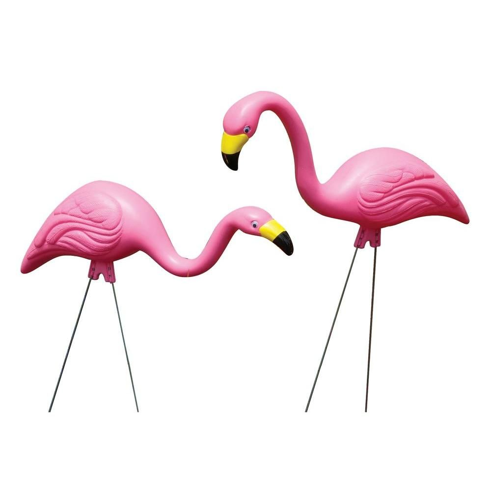 Pink Flamingo Statue 10 Pack