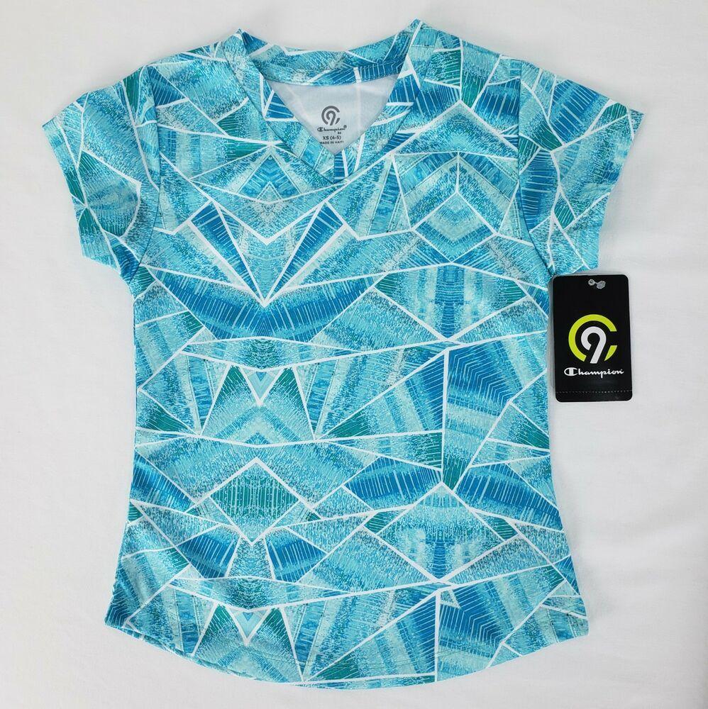 Girls C9 by Champion Printed Tech T Shirt Youth XS 4 5
