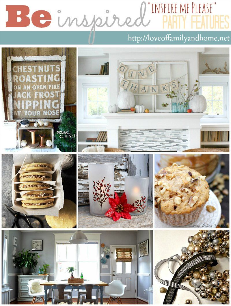 "Inspire Me Home Decor Living Room: ""Inspire Me Please"" Weekend Blog Hop #37 (Love Of Family"