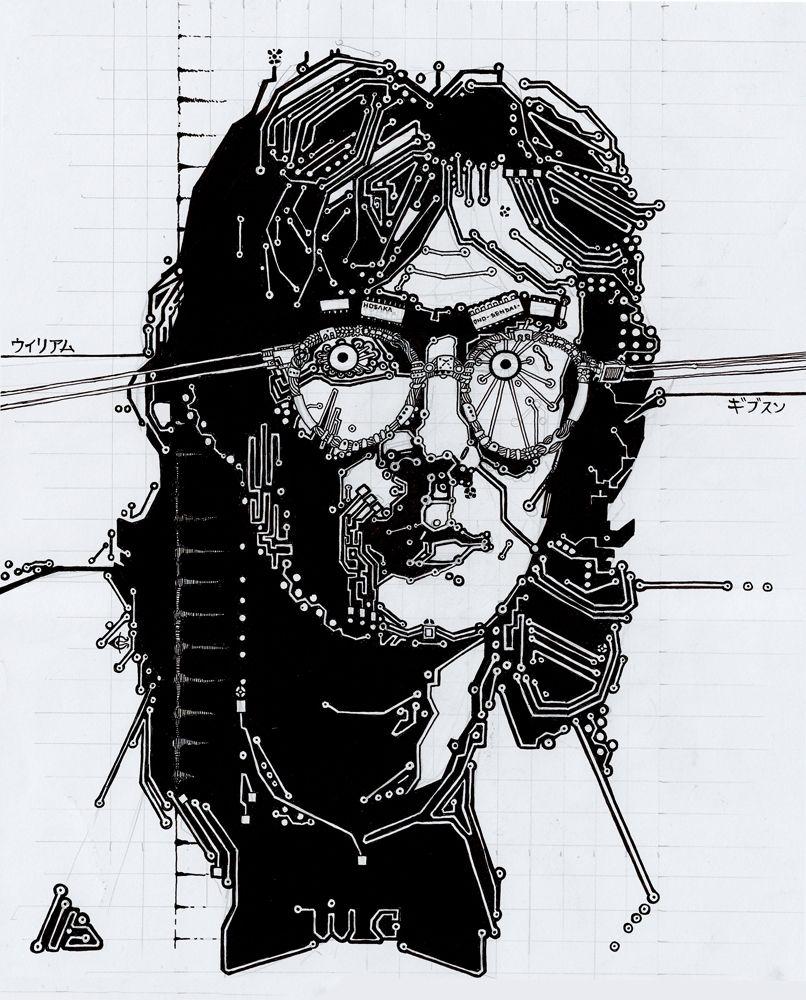 William Gibson by Sergiy Krykun. William gibson