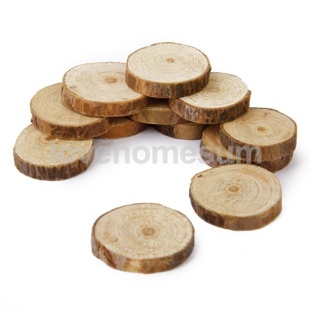 3.09 GBP - 100X Blank Pinewood Tree Log Slice For Wedding ...