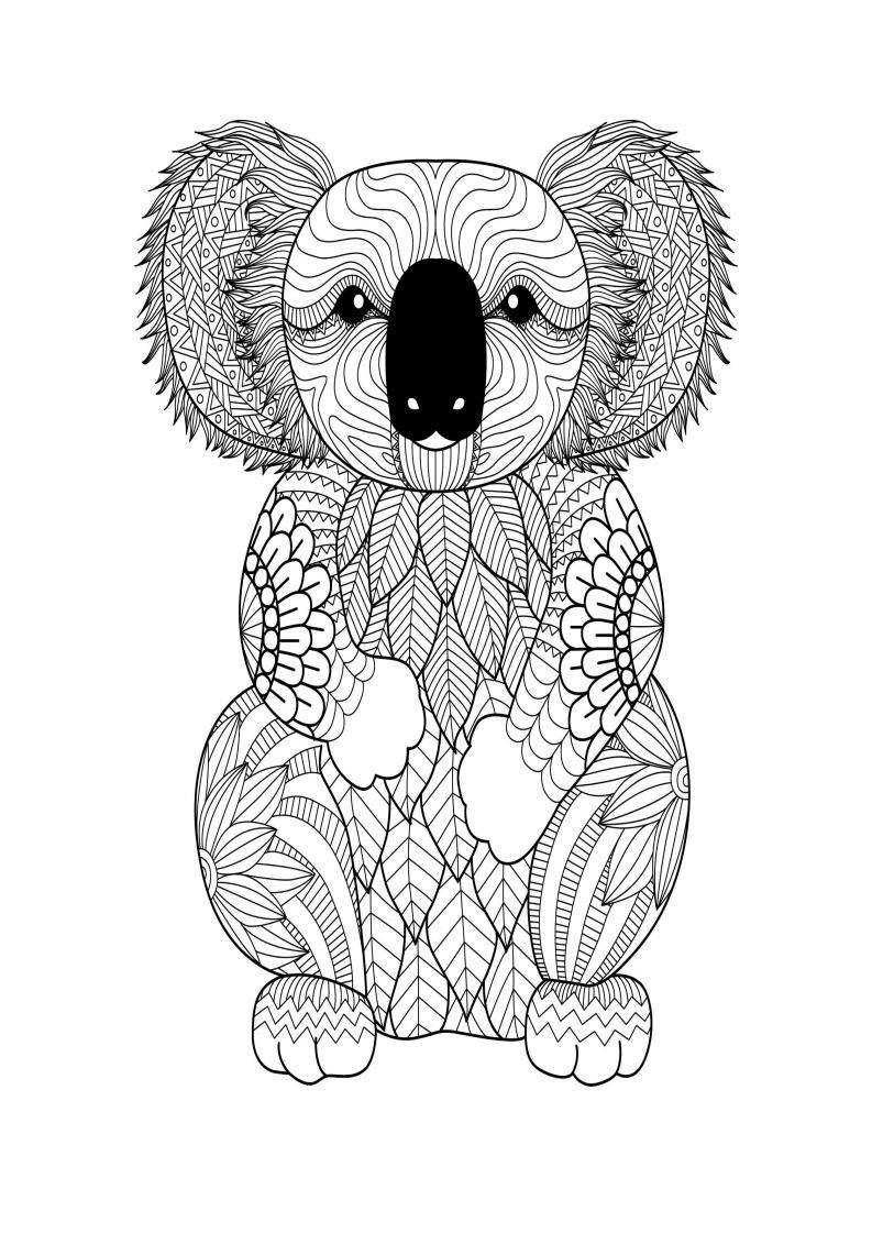 Mindfulness Coloring Koala Bear Coloring Pages Animal Coloring Pages Animal Coloring Books