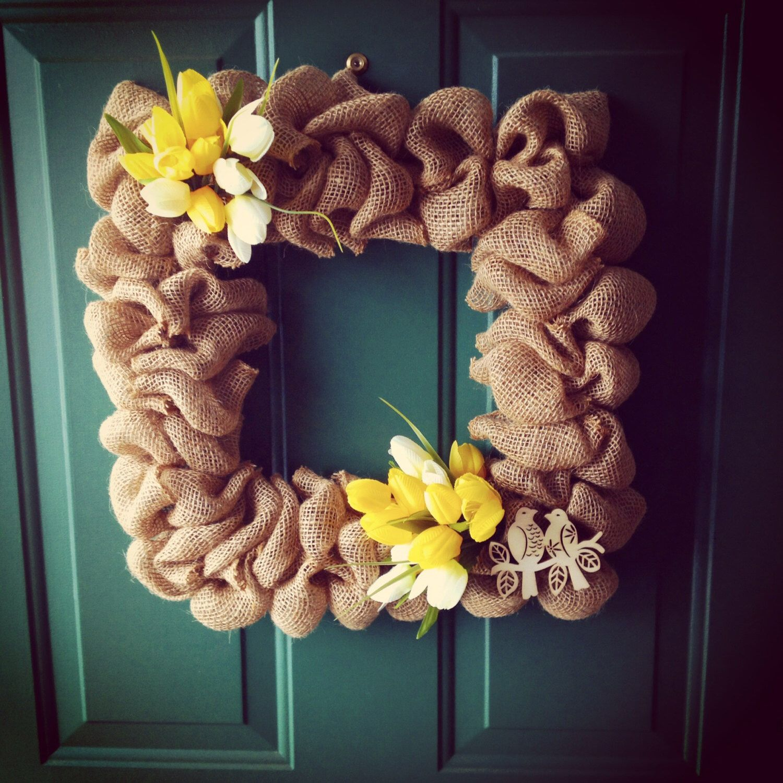 Custom Made To Order Burlap Wreath By JanellsCraftyKitchen