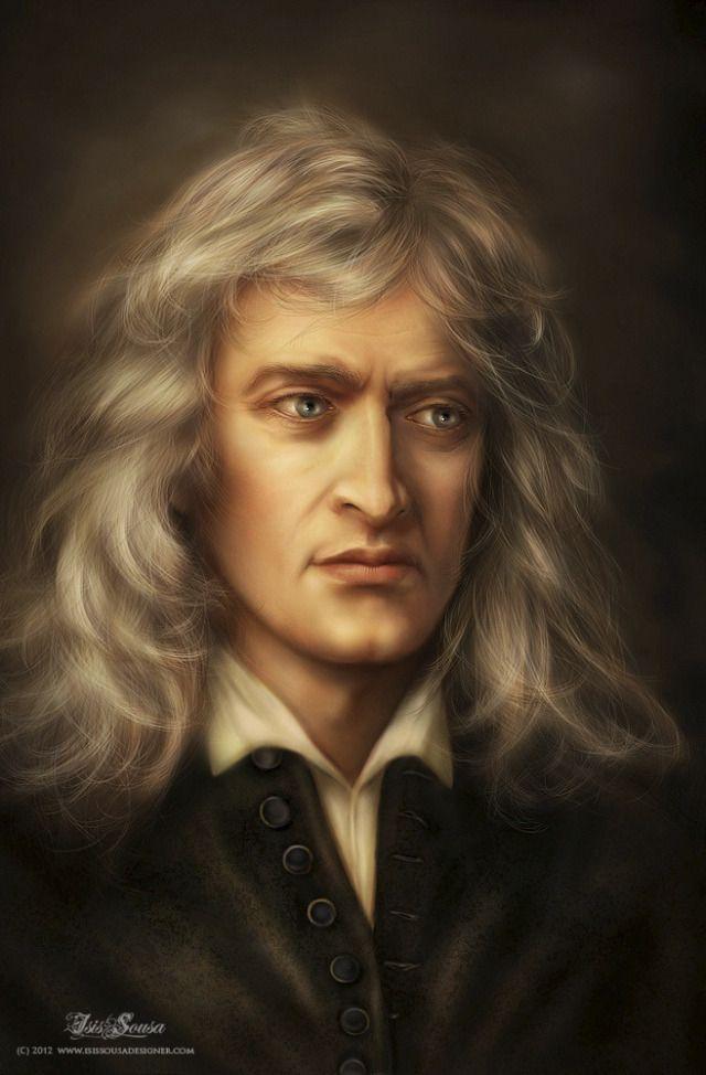 London Isaac Newton Portrait Fantasy Portraits
