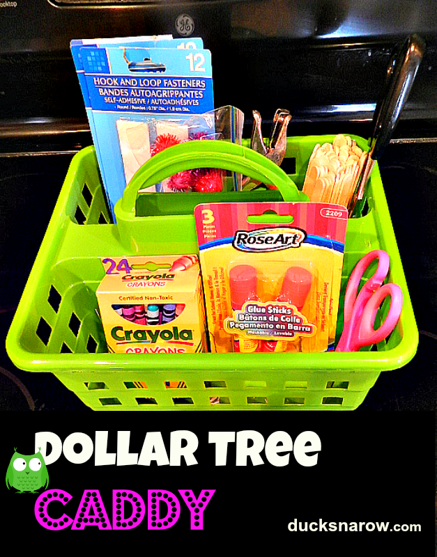 My New Dollar Tree Preschool Supplies Caddy Preschool Supplies