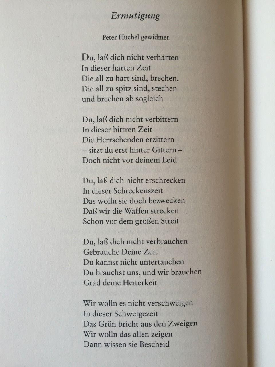 Gedichteausderwelt Ermutigung Von Wolf Biermann