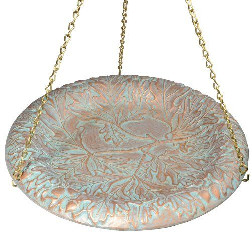 Whitehall Products Oakleaf Hanging Birdbath, Copper Verdi  //Price: $ & FREE Shipping //    #home #interior #mirror #decor #design