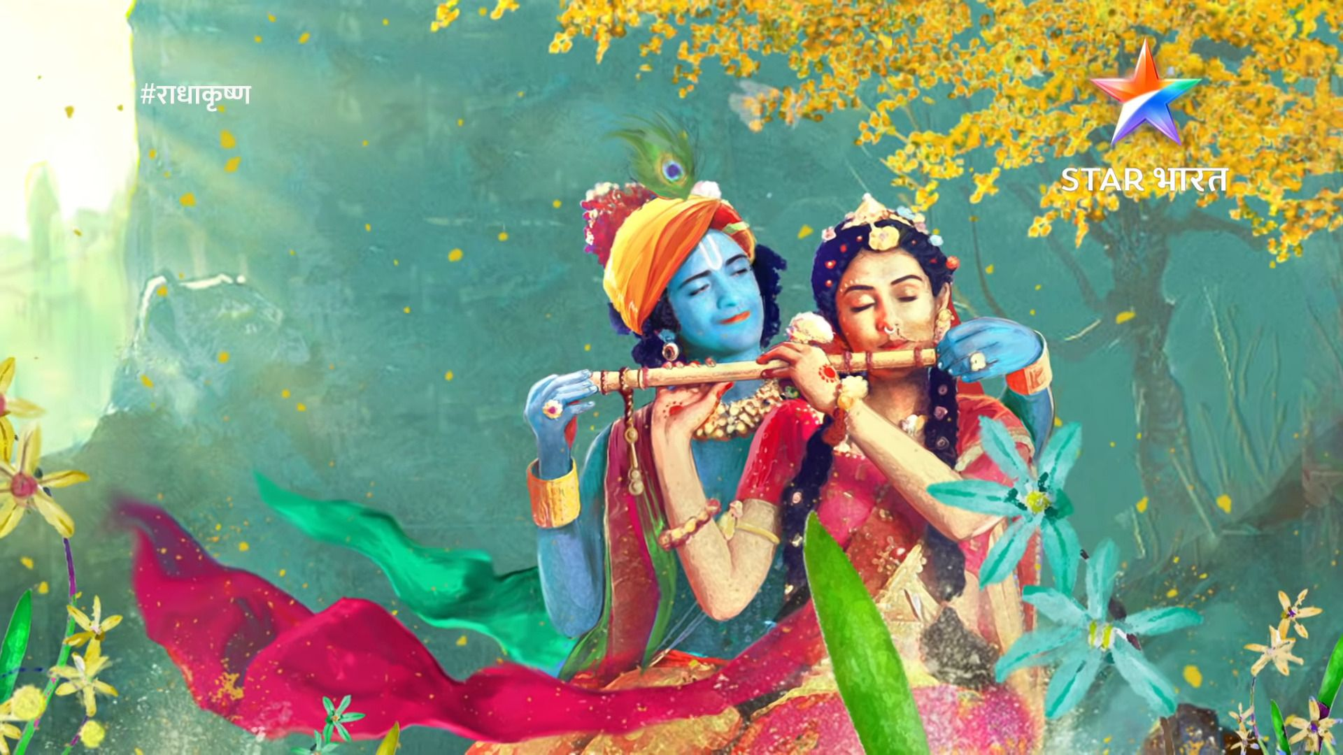 Radha Krishna Star Bharat Serial Hd Wallpapers 1080p Krishna Radha Painting Radha Krishna Wallpaper Krishna Images