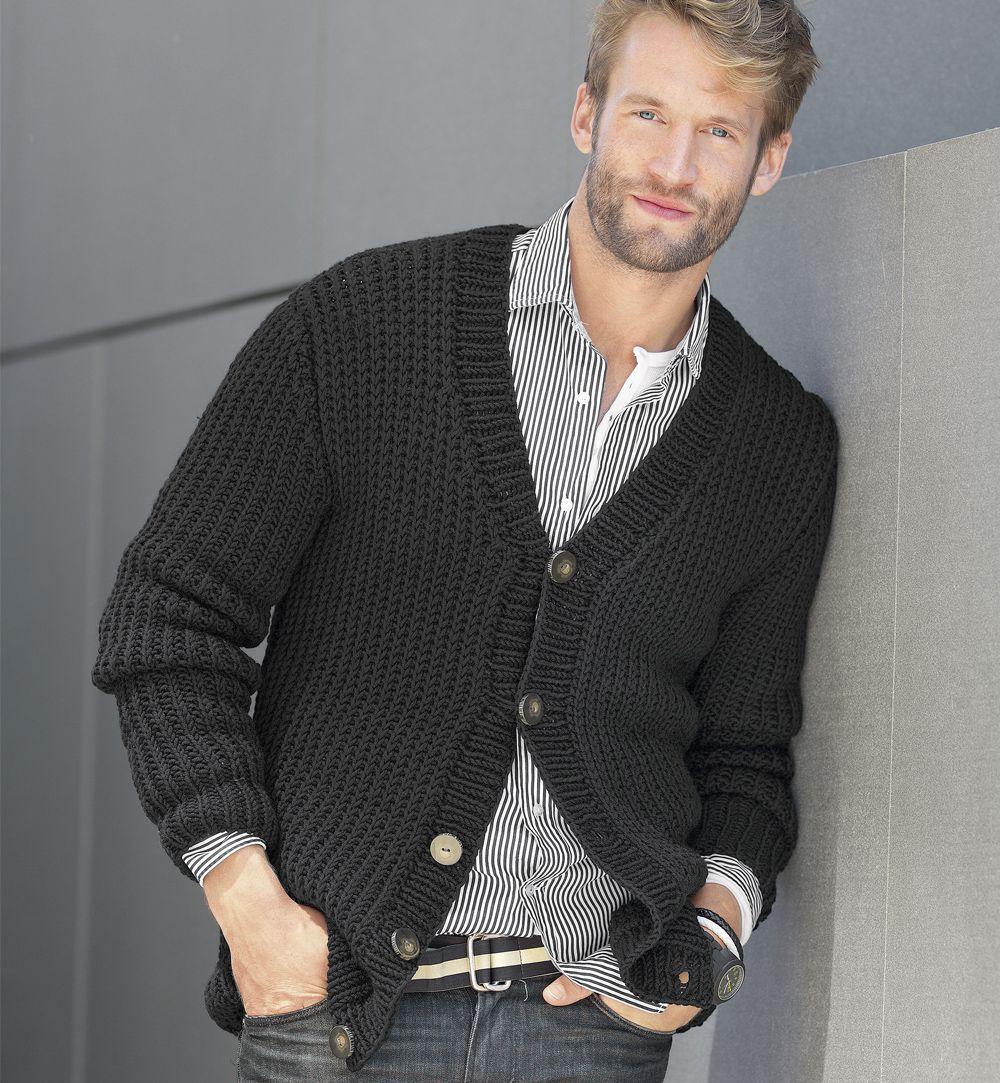 вязание спицами для мужчин журнал мод (10)