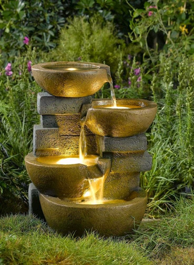 Garden Water Fountain Ideas I love the natural yet elegant look to this outdoor garden water i love the natural yet elegant look to this outdoor garden water fountain ive been wanting to redo my garden for a while and feel like i could base my workwithnaturefo