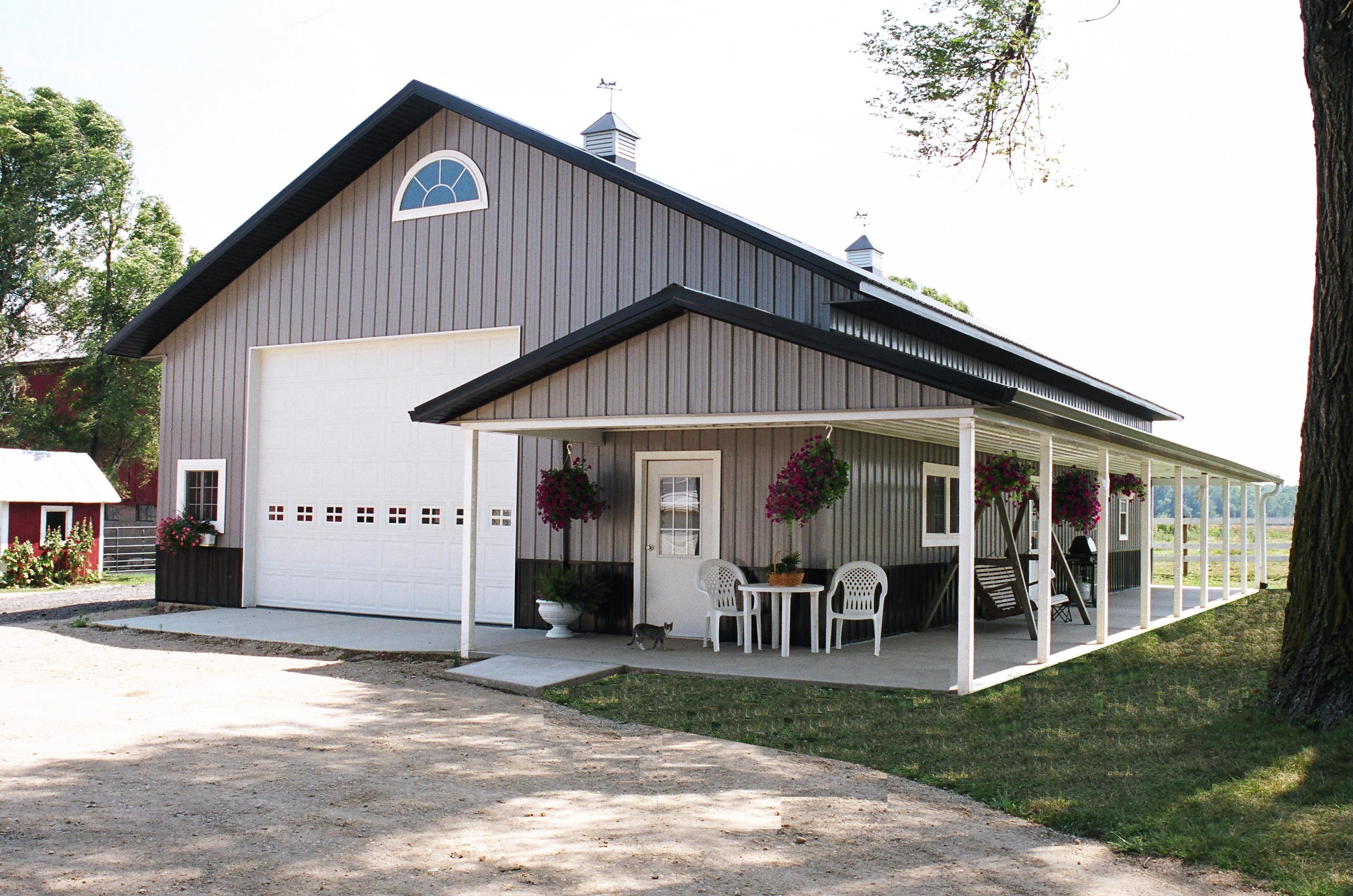 Pole barn shed home living small smart pinterest - Garage exterieur metal ...