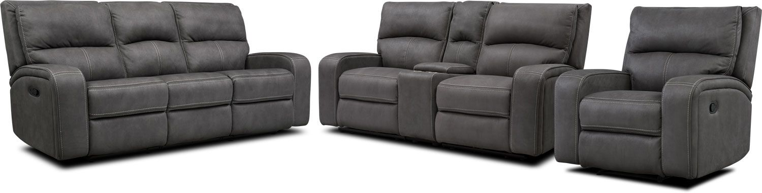 Cool Burke Manual Reclining Sofa Loveseat With Console Recliner Cjindustries Chair Design For Home Cjindustriesco
