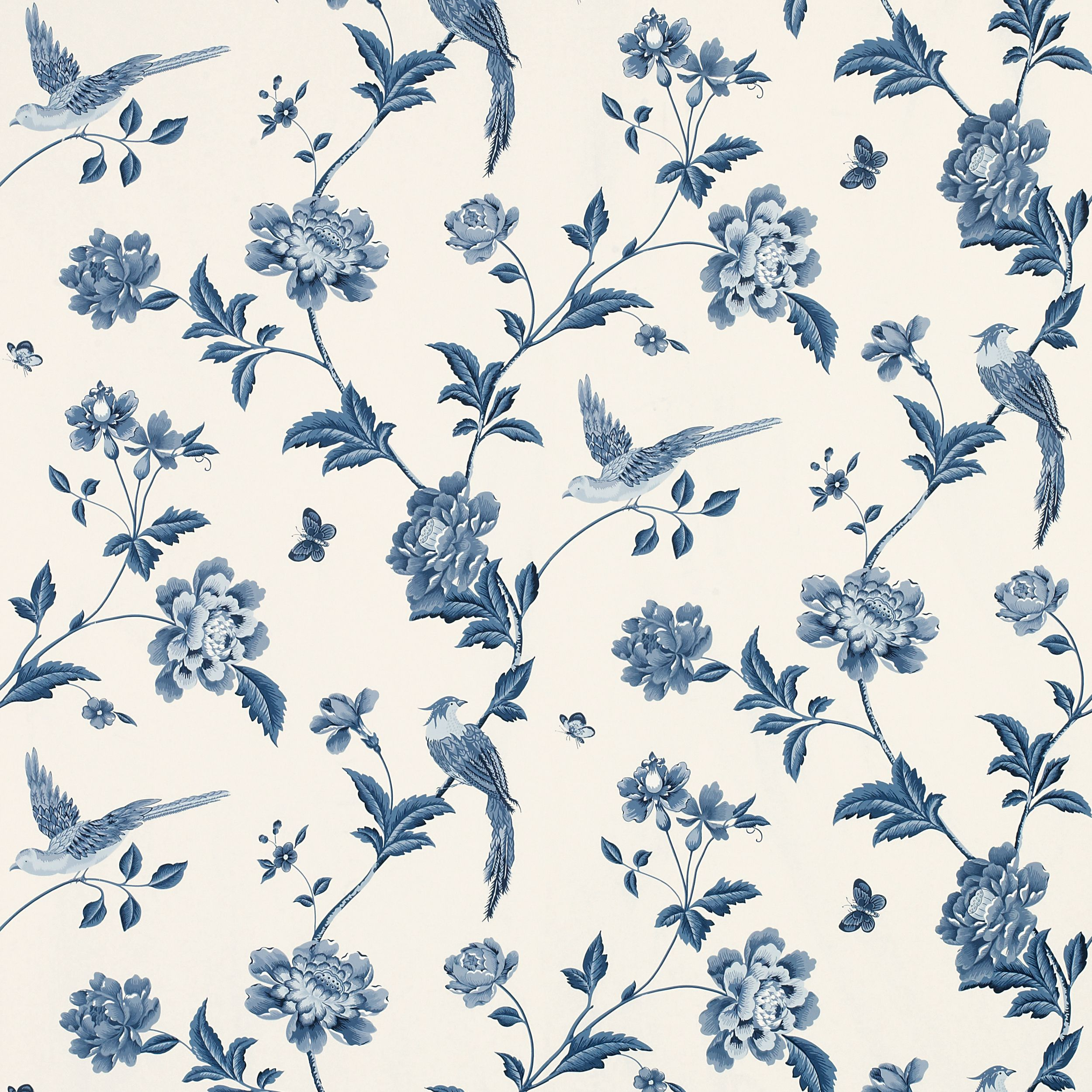 Laura Ashley Bedroom Wallpaper Elveden Sapphire Wallpaper From Laura Ashley Home Daccor