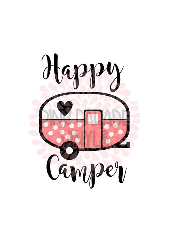 Happy Camper Cute Kid SVG DXF Cuttable Design By PinkParadeSVGs