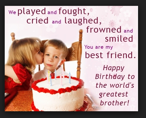 birthday wishes for brother from sister quotes Birthday