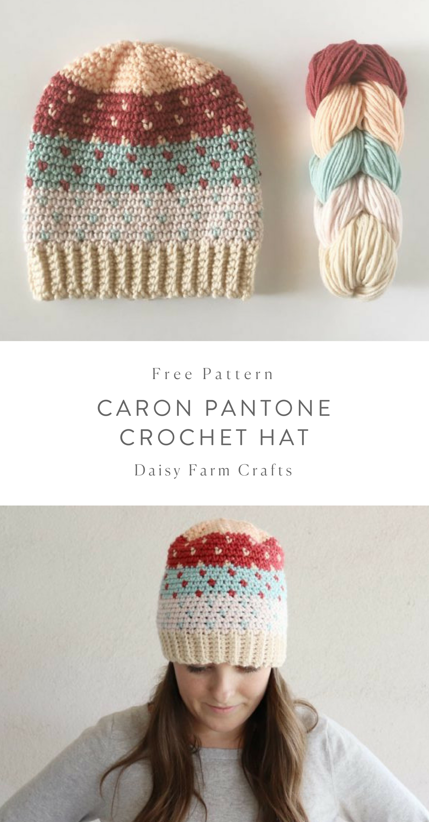 Free Pattern - Caron Pantone Crochet Hat #crochet | in stitches ...
