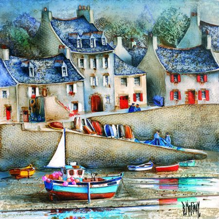 39 la cale du drellac 39 h 39 by bernard morinay morinay art naive art et illustration. Black Bedroom Furniture Sets. Home Design Ideas