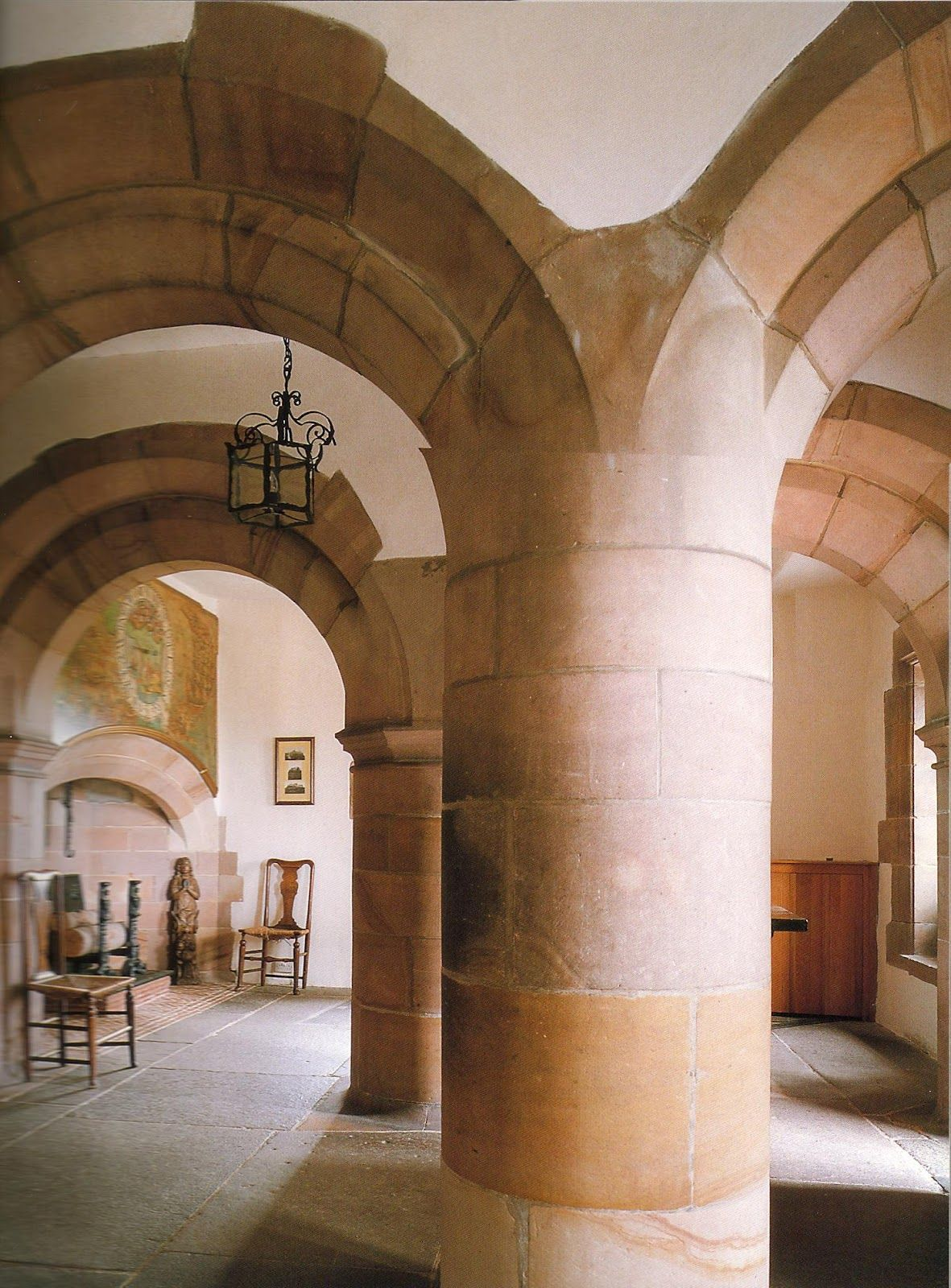 Interior of lindisfarne sir edwin lutyens via mahala for Castle architecture design