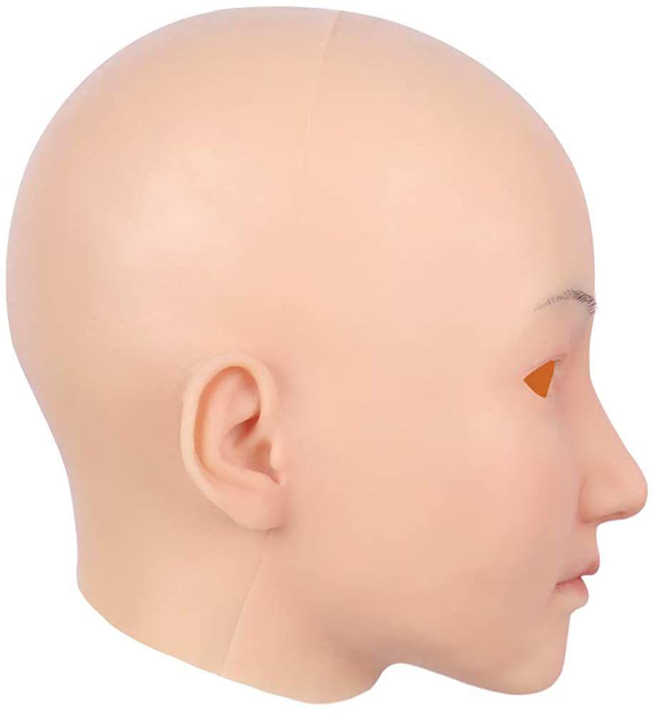 Silicone Realistic Female Head Mask Handmade Face for Crossdresser Transgender