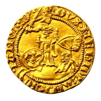 American Numismatic Society: Gold florin, Milan (Italy), 1450 - 1466.  1954.237.387 | Ancient coins, Gold and silver coins, Gold coins