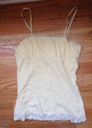 8e97b754f8b6 Buy my item on  vinted http   www.vinted .com womens-clothing sleeveless-and-tank-tops 18409602-yellow-tank-top-with-lace-trim