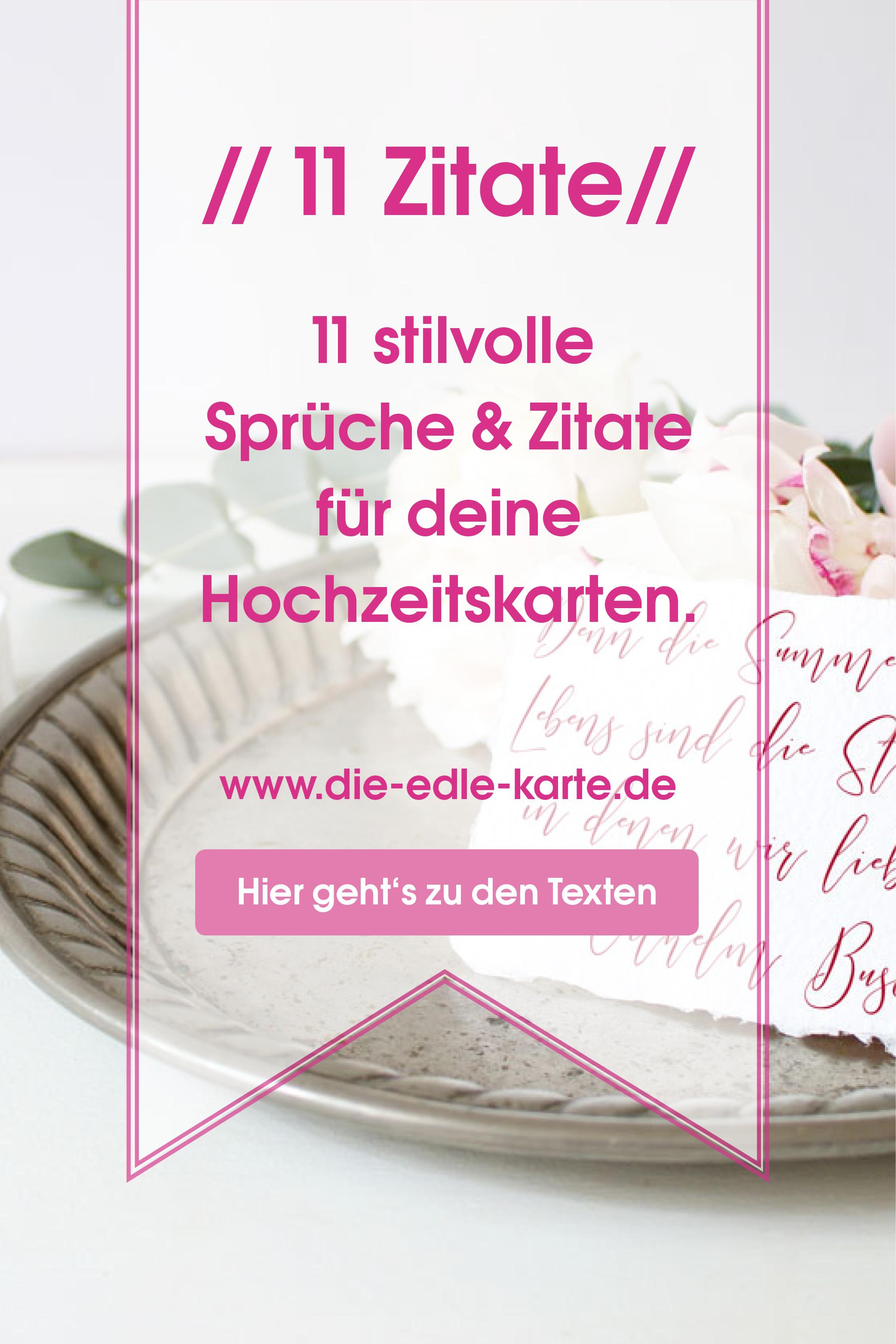 11 Stilvolle Hochzeitssprüche Für Deine Einladungskarten