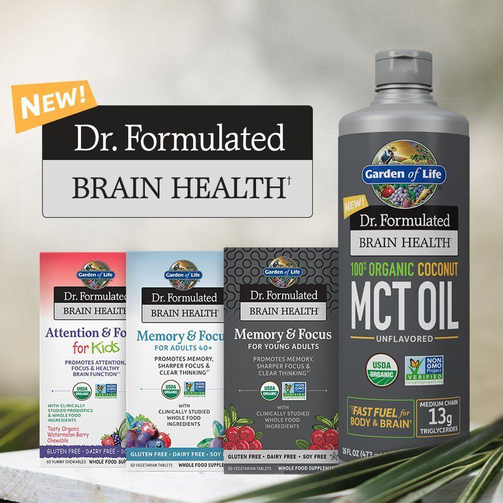 Garden of Life Dr. Formulated Organic Brain Health Memory