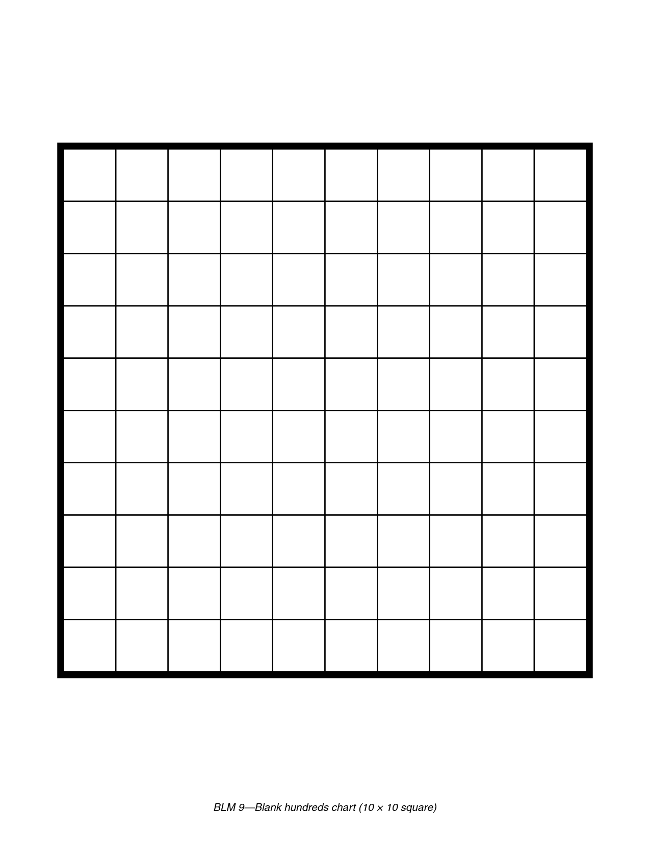 Clever image with hundredths grid printable