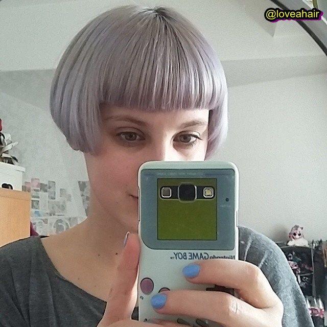 Grey micro bob