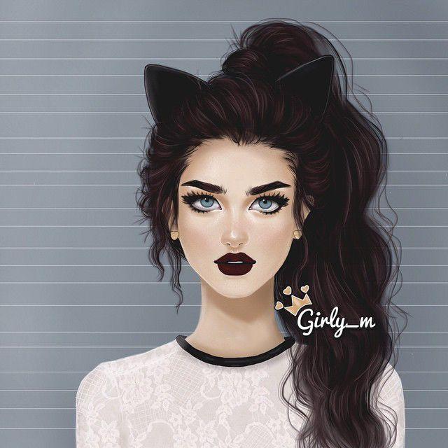 Иллюстрации красивых девушек фото 473-46