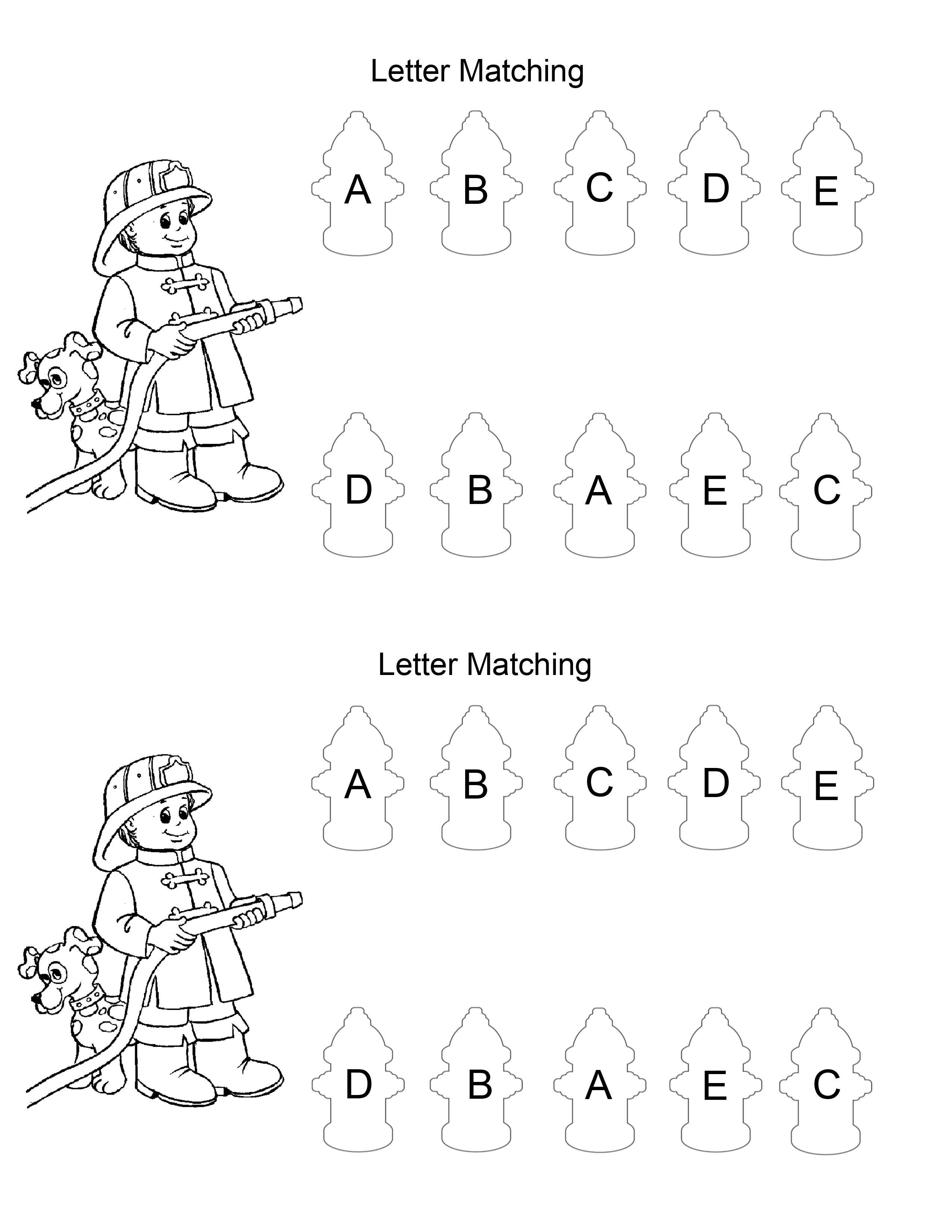 Fire Safety Letter Matching In