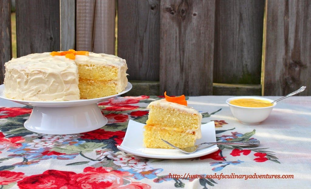 Orange Chiffon Cake with Orange Curd filling and Cream Cheese ...