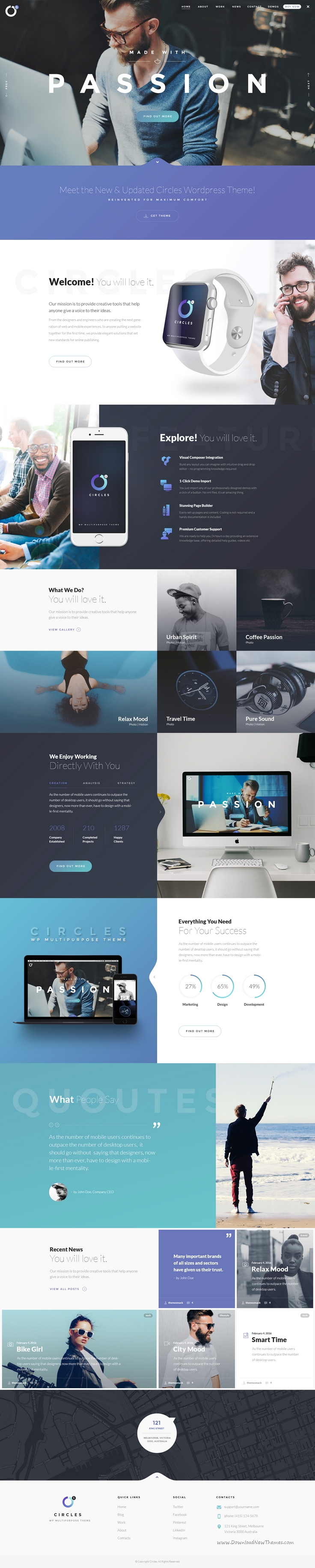 Circles 5 is a minimal and perfect grid design #PSD #template for multipurpose creative website Download Now➝ https://themeforest.net/item/circles-5-mutilconcept-creative-psd-template/16794020?ref=Datasata
