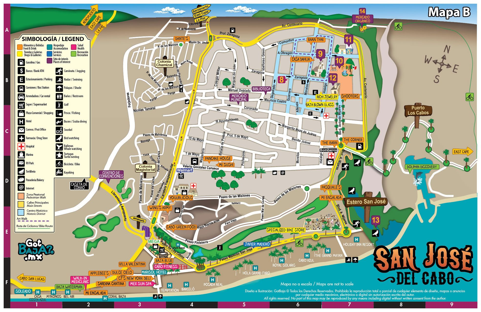 San Jose Del Cabo Mexico Map.Map Of The City Of San Jose Del Cabo Travel In 2019 Pinterest