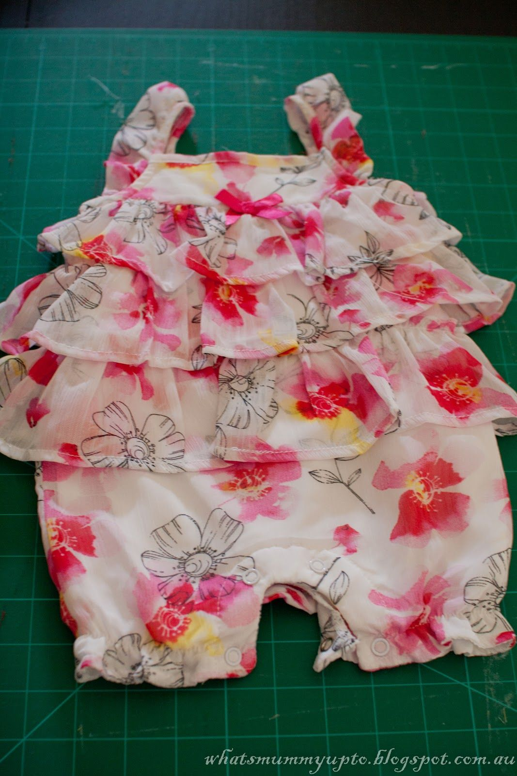 What's Mummy Up To ...: Waste Not Want Not - Turning a Onesie into a Top
