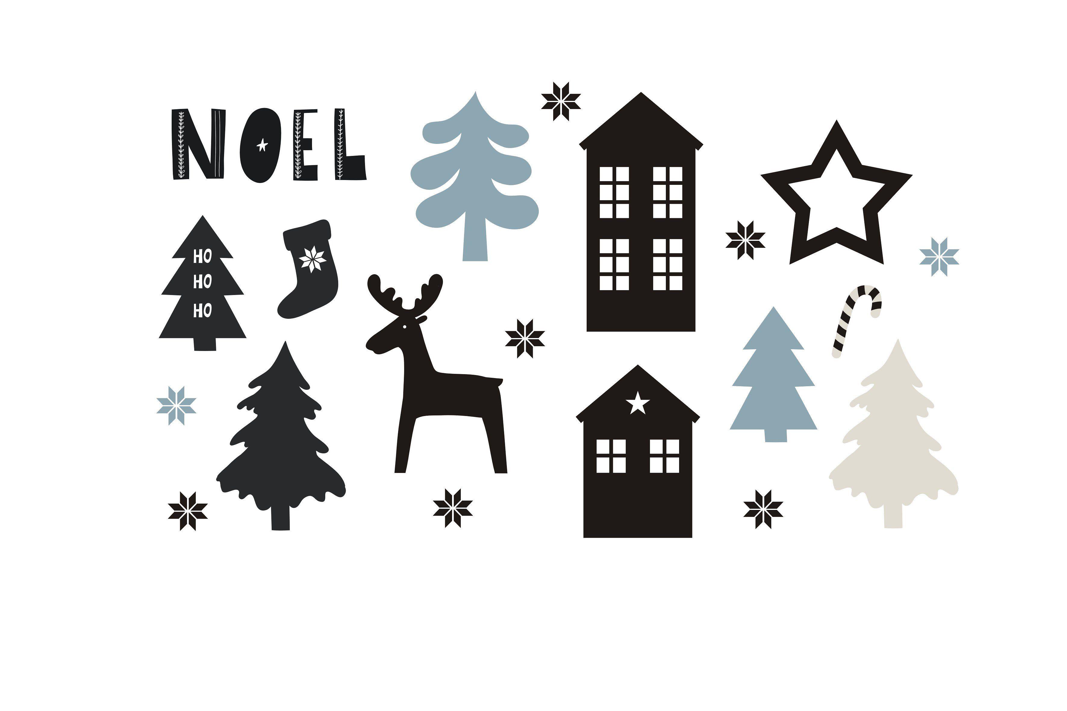 Scandinavian Christmas Scandinavian Christmas Scandinavian Holidays Christmas Illustration