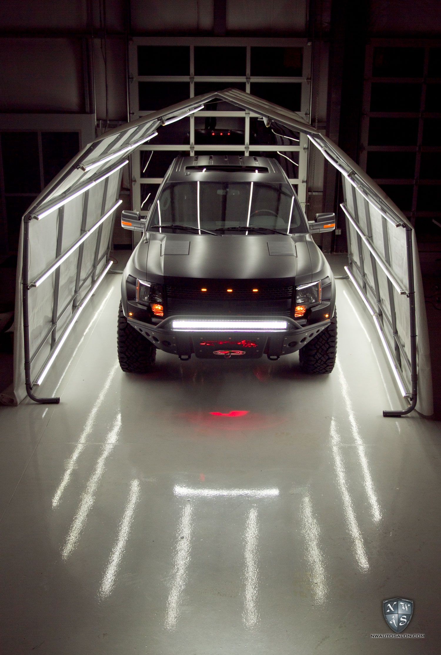 Ford Svt Raptor In The Light Tunnel At Northwest Auto Salon After