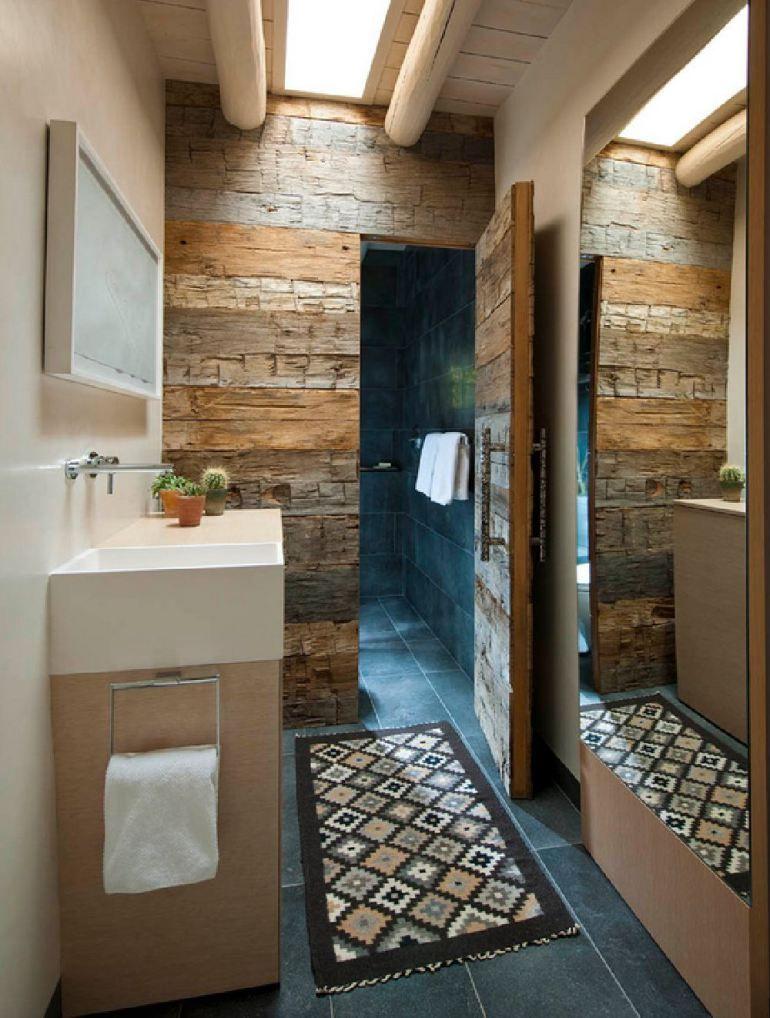 Despre casa mexicana cu interior rustic si for Santa fe style bathroom ideas