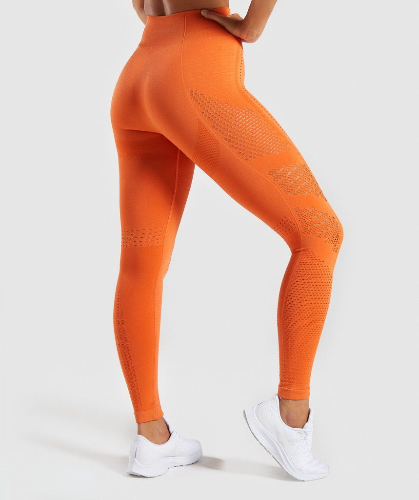 bf8a8fc93d0e5 Gymshark Flawless Knit Tights - Burnt Orange | Gymshark | Gym in ...