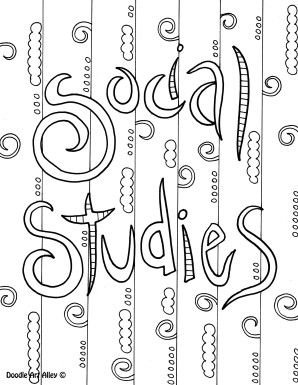 social studies school subject colouring page