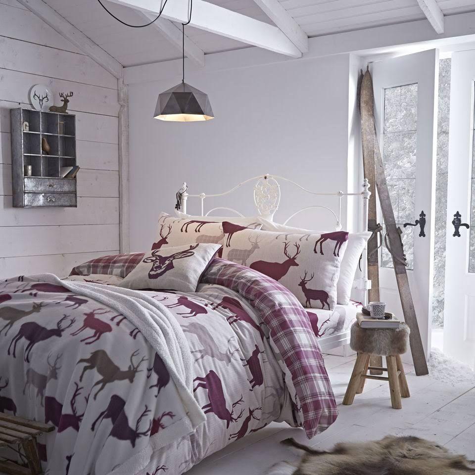 Cotton Flannelette Grampian Stag Duvet Set Double
