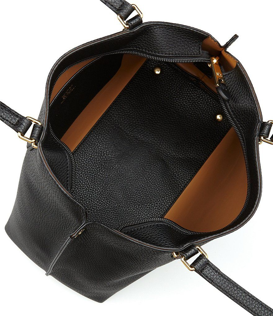 Black Lauren Ralph Lauren Anfield Medium Abby Shopper Tote   Work ... d735dd51d9