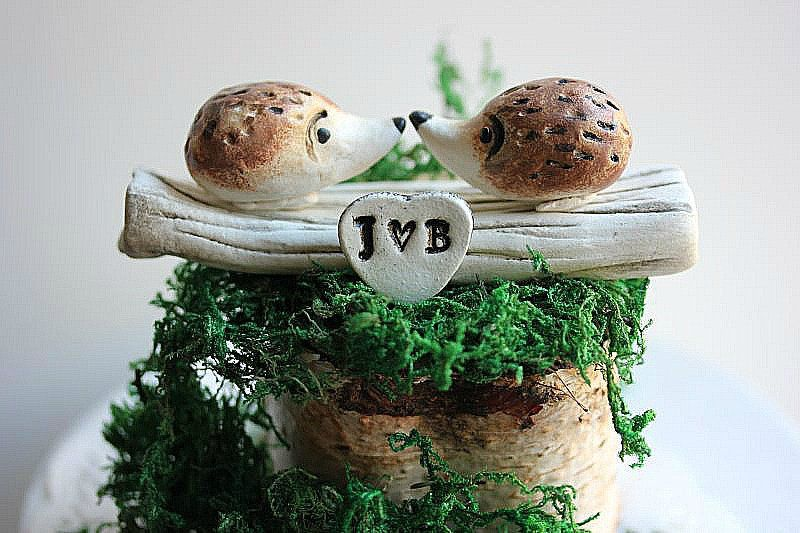 Hedgehog  Wedding Cake Topper - Hedgehog cake topper - Rustic wedding cake topper - Animal cake topper - Woodland animal cake topper #hedgehogcake