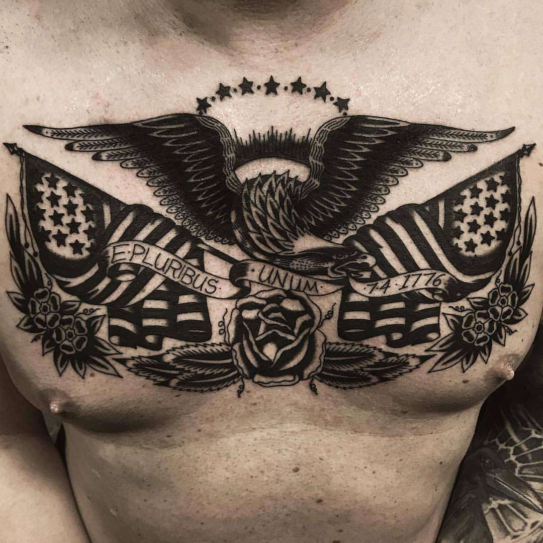 Polynesiantattoos Traditional Tattoo Eagle Chest Chest And Back Tattoo Tattoos