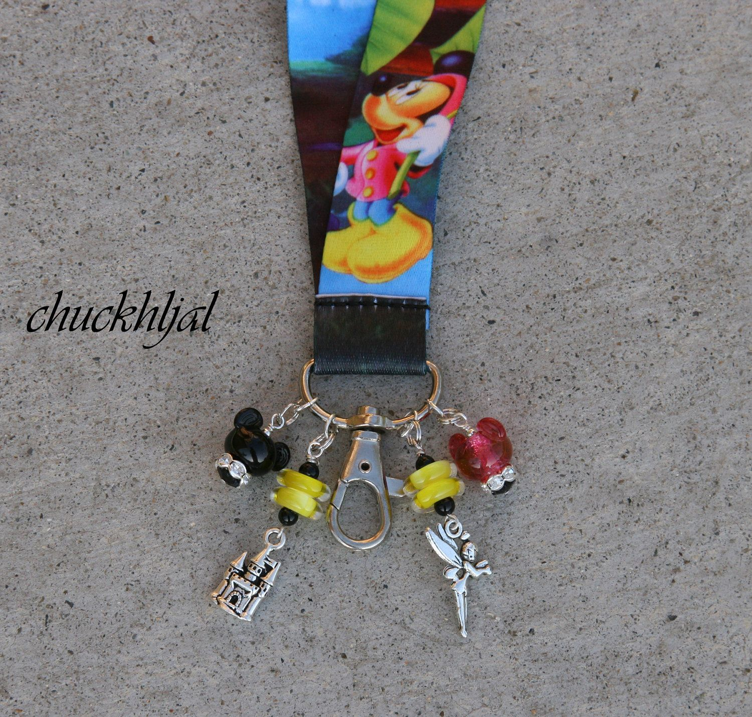 Mickey Mouse Character Mickey and Name ID Holder Lanyard Keychain