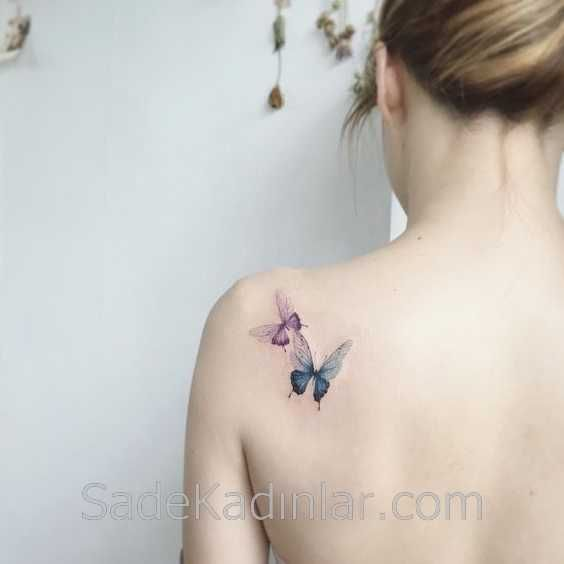 Photo of Small Tattoo Models Tattoo Butterfly Figured Shoulder Tattoos