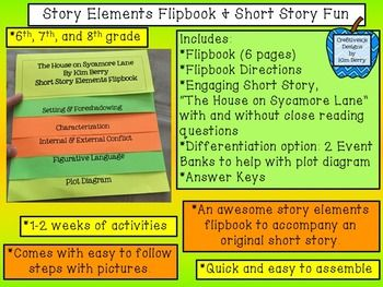 Story Elements Flipbook and Short Story Fun!Story Elements Flipbook