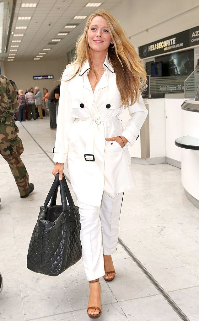 Blake Lively from The Big Picture: Today's Hot Pics  Arriving in Nice, France ahead of the Cannes Film Festival, the lovely actress looks chic in a white trench coat.