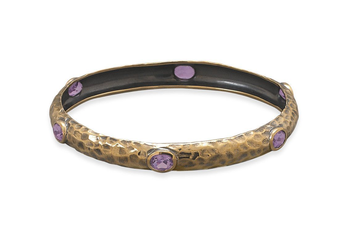 Bronze and amethyst bangle products pinterest amethysts